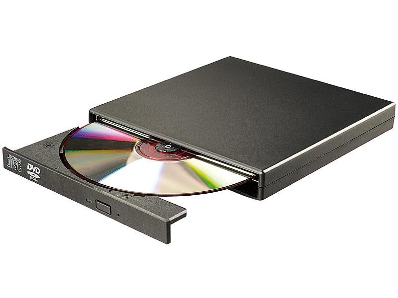 xystec externes dvd cd rom laufwerk 8 24x super slim. Black Bedroom Furniture Sets. Home Design Ideas