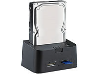"Xystec USB-HDD-Station FD-400Twin für 2,5""-/3,5""-SATA, mit Card-Reader"