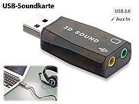 Xystec Externe USB-Soundkarte mit virtuellem 5.1-Surround-Sound, Plug & Play