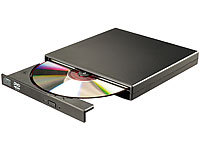 Xystec Externes DVD & CD-ROM-Laufwerk 8/24x, Super-Slim, USB 2.0; SATA Festplatten Adapter, Festplatten Dockingstations SATA Festplatten Adapter, Festplatten Dockingstations