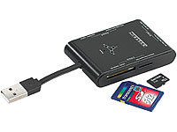 Xystec SDXC-fähiger Multi-Card-Reader CR-220.copy SD/microSD/MS Pro/M2