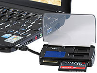 Xystec 2in1 Multi-Card-Reader mit SIM-Slot & Speicherkarten-Safe